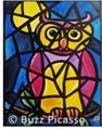 Stained Glass Owl Painting